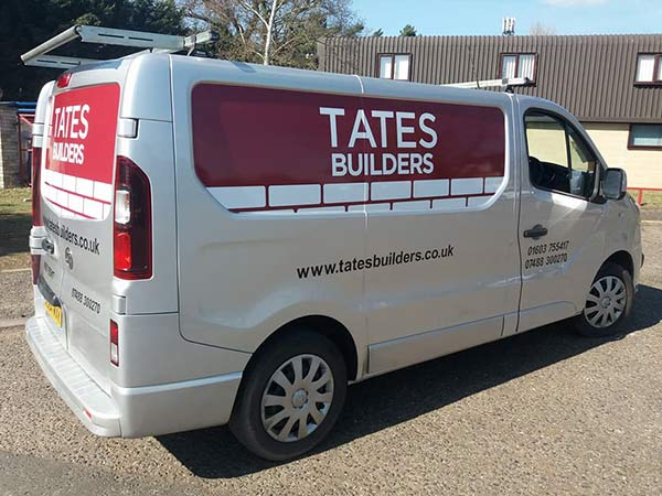 Monarch Signs Vehicle Graphics - Tates Builders