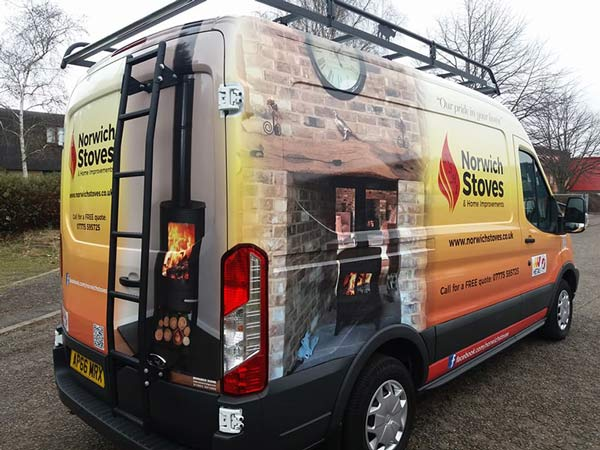 Norwich Stoves van full wrap