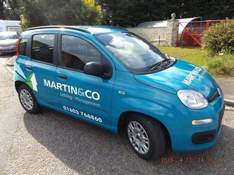 Advertising Printed wrap for Martin & Co