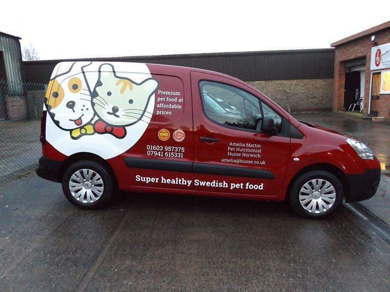 Part wrap for pet food company