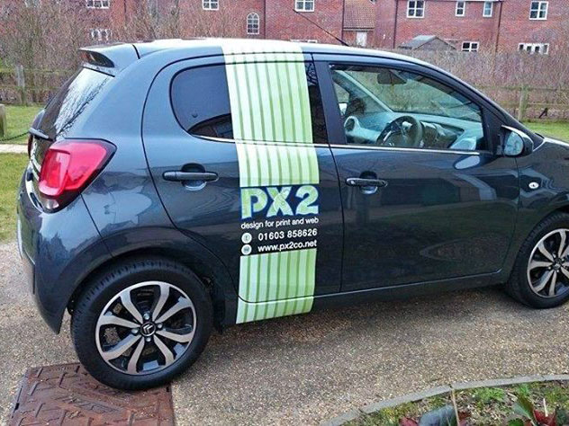 Wrap striping for PX2 Design